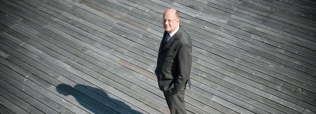 Rémi Pflimlin, photographié sur la terrasse de France Télévisions, le 7 juillet 2010 à Paris.