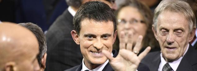 Manuel Valls lundi soir à Evry.