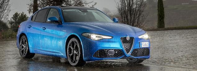 La performante version Veloce vient s'intercaler dans la gamme Giulia entre la Super et la Quadrifoglio.