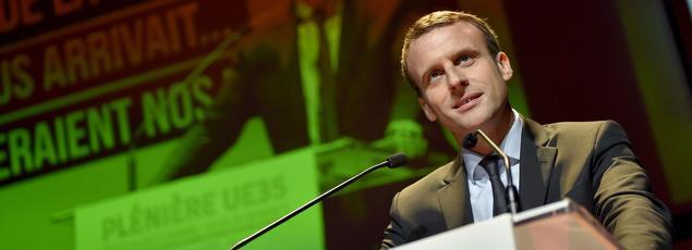 Emmanuel Macron, le 8 décembre en Bretagne.