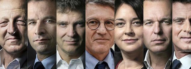 Les sept candidats à la primaire de la gauche