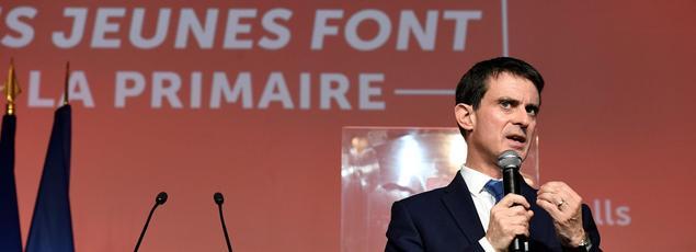 Manuel Valls s'est exprimé devant le Mouvement des jeunes socialistes à La Bellevilloise samedi matin.