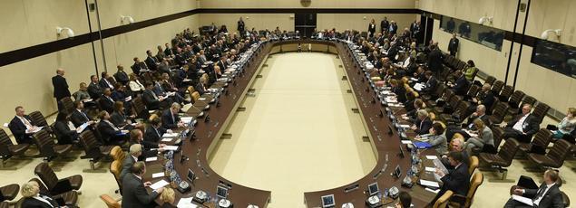 Meeting au siège de l'Otan, à Bruxelles, le 7 décembre 2016.