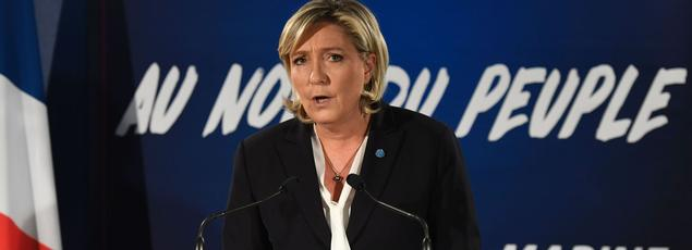 Marine Le Pen, candidate du FN à la présidentielle