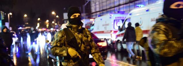 Les forces spéciales turques sur les lieux de l'attaque, dans la nuit du 31 décembre au 1er janvier dernier.