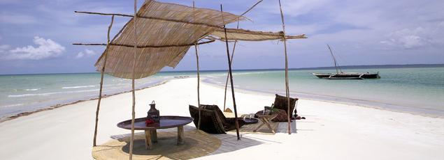 L'île de Funzi, au large du Kenya, un paradis pour les amoureux.