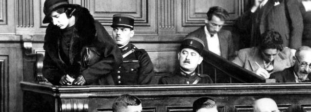 Violette Nozière lors de son procès en 1934.