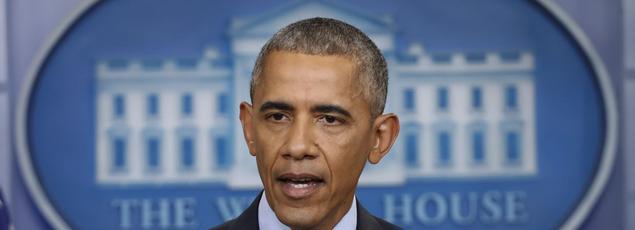 Barack Obama, lors de sa dernière conférence de presse, le 18 janvier.