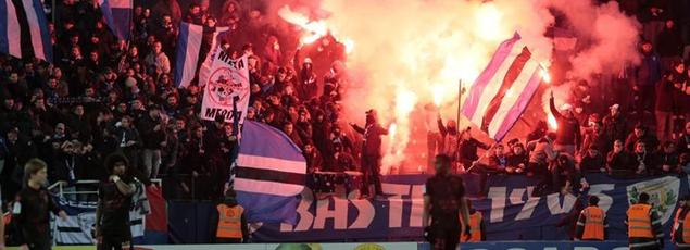 Les supporteurs bastiais pendant la rencontre Bastia-Nice.