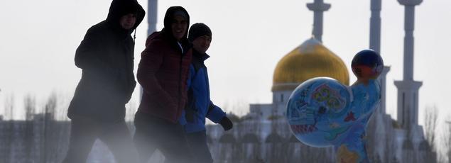 À Astana (ici la mosquée Nur-Astana), au Kazakhstan, l'objectif de Moscou est de «consolider» le cessez-le-feu.
