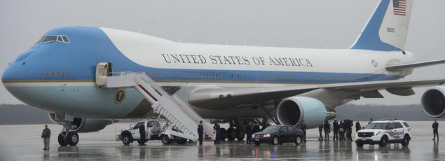 L'Air Force One présidentiel, le 6 décembre 2016 à la base militaire Saint-Andrews.