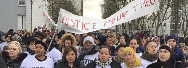 Manifestation de soutien à Théo, interpellé jeudi dernier à Aulnay-sous-Bois