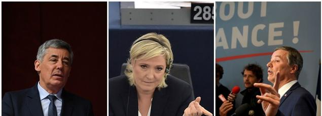 Henri Guaino, Marine Le Pen et Nicolas Dupont-Aignan