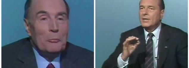 En 1988, François Mitterrand et Jacques Chirac s'affrontaient dans un duel télévisé à la française. La formule changera-t-elle en 2017? Crédits Photo: captures d'écran Ina.fr/YouTube
