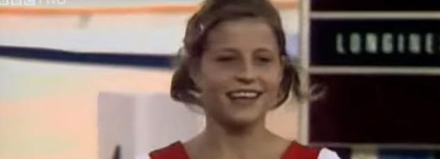 Olga Korbut aux JO de Munich en 1972.