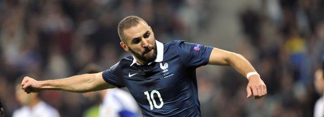 Karim Benzema sous le maillot tricolore
