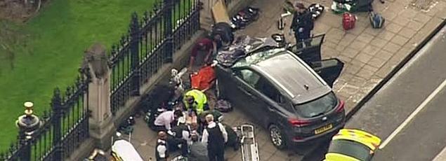 L'assaillant a renversé plusieurs piétons sur le pont de Westminster, mercredi en début d'après-midi, avant de poignarder un policier dans la cour du Palais du Parlement.