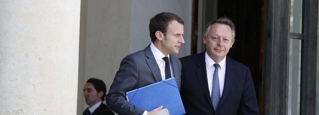 Emmanuel Macron et Thierry Braillard à l'Élysée, le 16 juillet 2016.