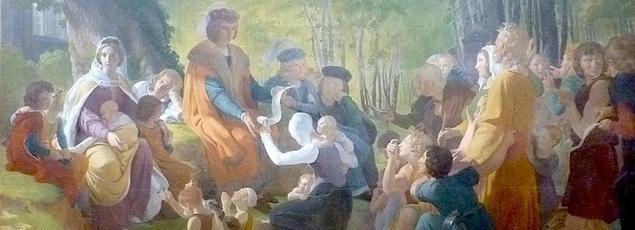 Saint Louis rendant la justice sous le chêne de Vincennes, Pierre-Narcisse Guérin, Musée des Beaux-Arts d'Angers