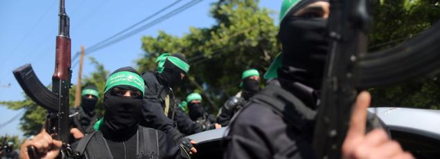 Samedi dans les rues de Gaza lors des obsèques d'un chef militaire du Hamas, Mazen Foqaha.