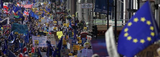 80.000 personnes, selon les organisateurs, manifestaient dans les rues de Londres le samedi 25 mars.