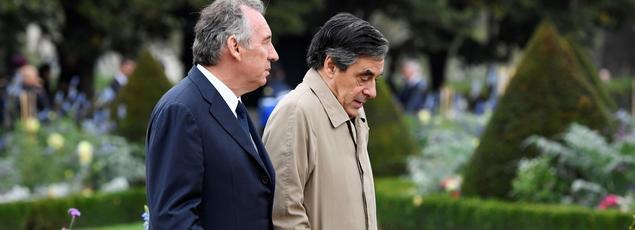 François Bayrou et François Fillon à Paris, le 19 septembre 2016.
