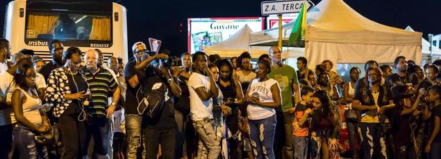Une manifestation à Cayenne, le 25 mars 2017.