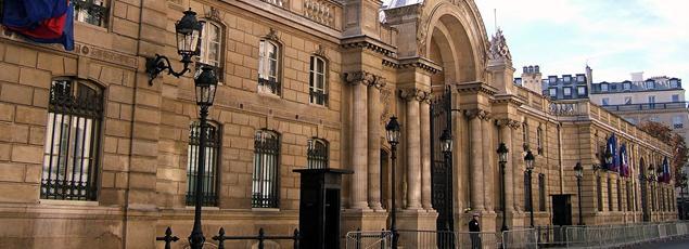 Le Palais de l'Élysée.