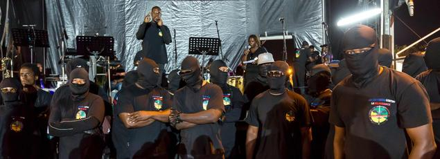 Le «Collectif des 500 frères», le 25 mars 2017 près de Cayenne, en Guyane.