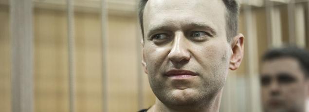 Alexeï Navalny au tribunal de Moscou lundi.