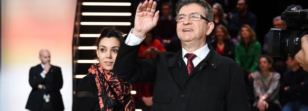Jean-Luc Mélenchon lundi 20 mars lors du premier débat sur TF1.
