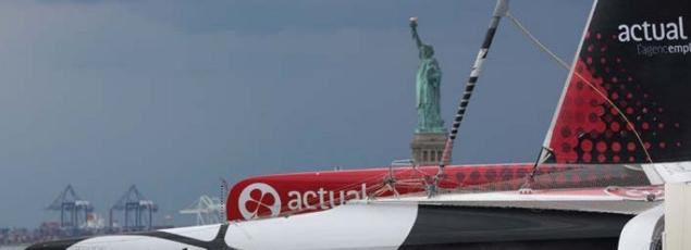 La transat entre quatre multicoques et le Queen Mary 2 reliera Saint-Nazaire à New York cet été.