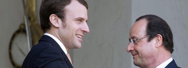 Emmanuel Macron et François Hollande, en 2014.