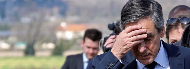 François Fillon, candidat LR, le 2 mars à Nîmes.