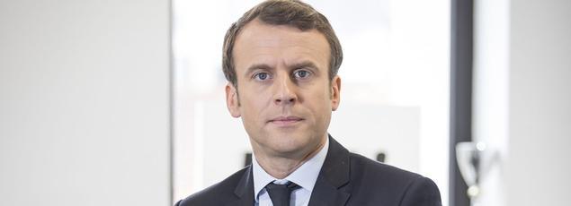 Emmanuel Macron, à son QG de campagne, le 28 avril 2017.