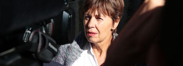 Danièle Van de Lanotte, la mère de Mathias Depardon, s'est présentée jeudi devant l'ambassade turque à Paris pour demander la «libération immédiate» de son fils.