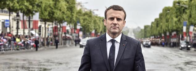 Emmanuel Macron à Paris, le 14 mai 2017.