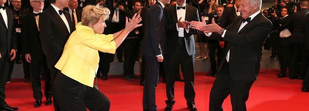 Emma Thompson et Dustin Hoffman ont clairement apprécié de monter les marches, dimanche soir.