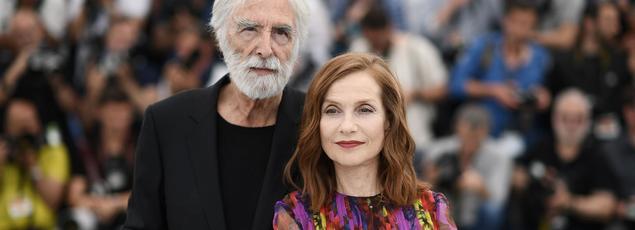 Michael Haneke et sa muse Isabelle Huppert. Avec «Happy end», le duo se plonge dans le quotidien d'une riche famille de bourgeois monstrueux, dont l'entreprise de BTP est sur le fil.
