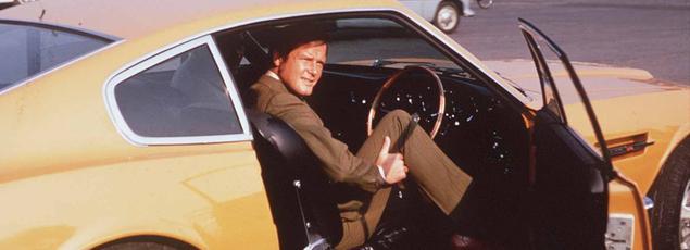 Roger Moore incarnant Brett Sinclair dans «le Saint».