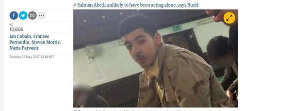 Le Guardian explique que cette photo de Salman Abedi a été prise il y a plusieurs années dans une mosquée.
