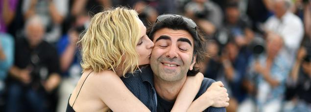 Diane Kruger et le cinéaste Fatih Akin, lors de la présentation d'In the Fade, ce vendredi matin à Cannes.