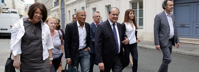 Jean-Christophe Cambadélis samedi à son arrivée au Conseil national du PS.