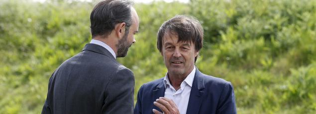 Le premier ministre Edouard Philippe et le ministre la Transition écologique et Solidaire.