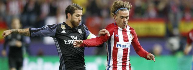 Sergio Ramos et Antoine Griezmann ont l'habitude de se croiser dans le derby de Madrid en Liga, mais aussi en Ligue des champions et Supercoupe d'Europe.