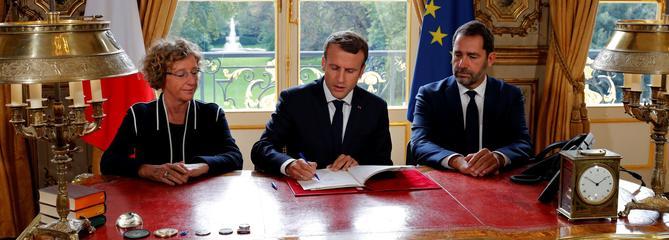 Macron a signé les ordonnances validant la réforme du Code du travail