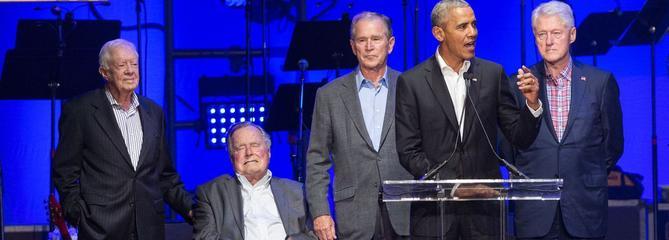 Obama, Clinton, Bush, Carter... Tous réunis pour un concert de charité après les ouragans