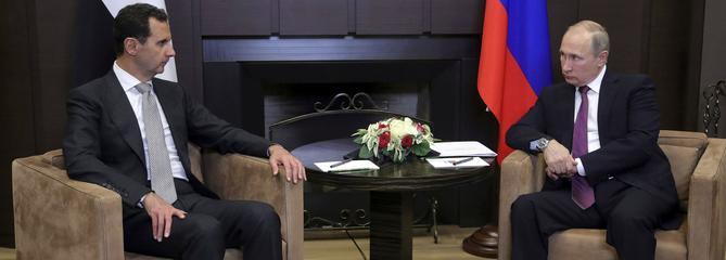 Bachar el-Assad en visite surprise en Russie
