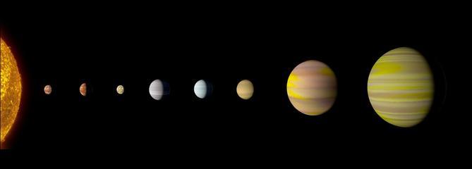 Google découvre une 8e exoplanète autour d'une même étoile