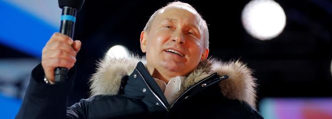 Russie : Poutine largement réélu pour un quatrième mandat